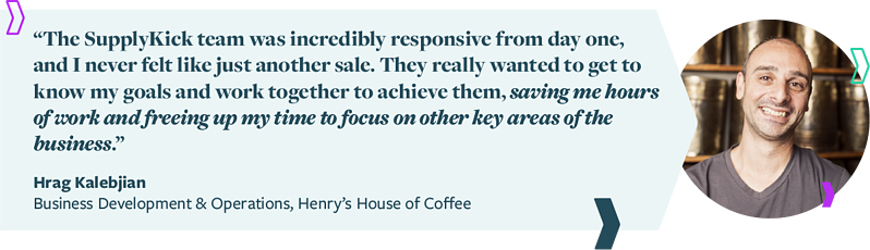 Amazon Agency Solution for Henry's House of Coffee