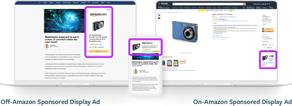 Placement of Amazon Sponsored Display Ads